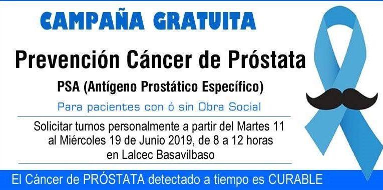 Lalcec Basavilbaso lanzó su campaña de prevención de cáncer de próstata