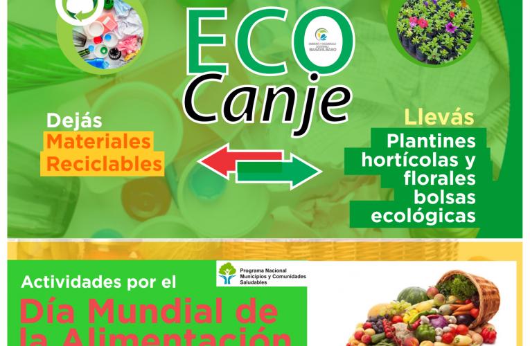 Se reprograma la jornada del Eco canje y las actividades por el Día de la alimentación