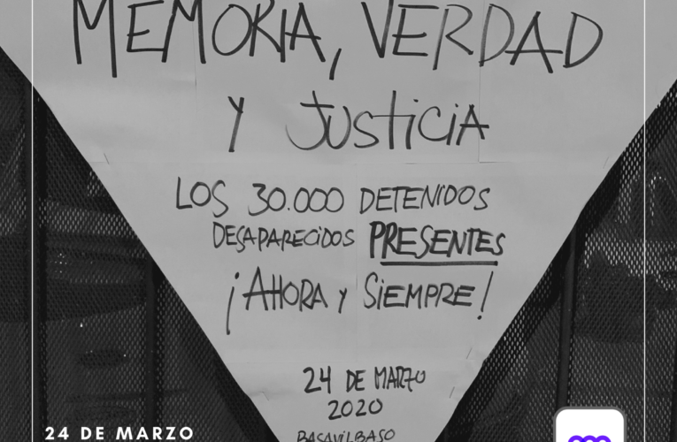 #Efemérides: 24 de marzo – Día nacional de la memoria por la verdad y la justicia