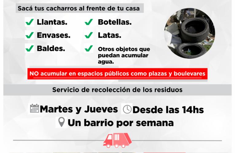 Campaña municipal de descacharrización para combatir el dengue