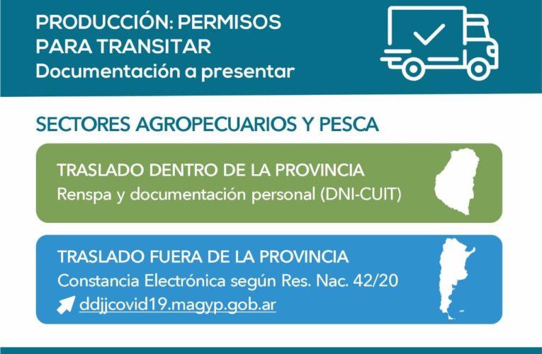 Brindan precisiones sobre los permisos otorgados a productores que operan dentro y fuera de la provincia