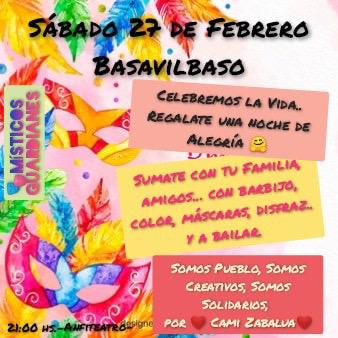 Este sábado en Basavilbaso se realizará una noche de carnaval y solidaridad