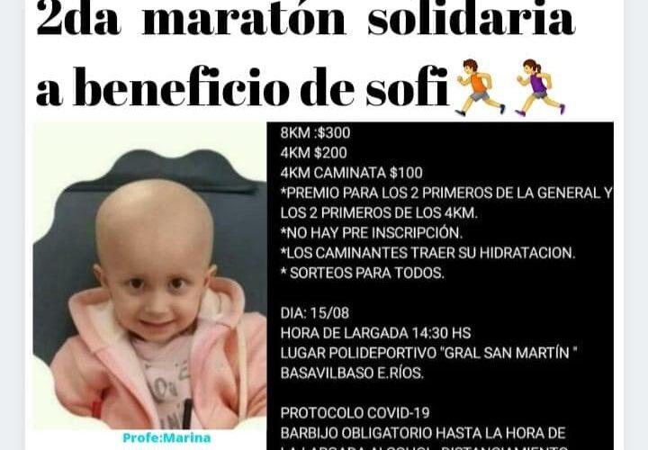 Basavilbaso: se realizará una nueva maratón a beneficio de Sofi