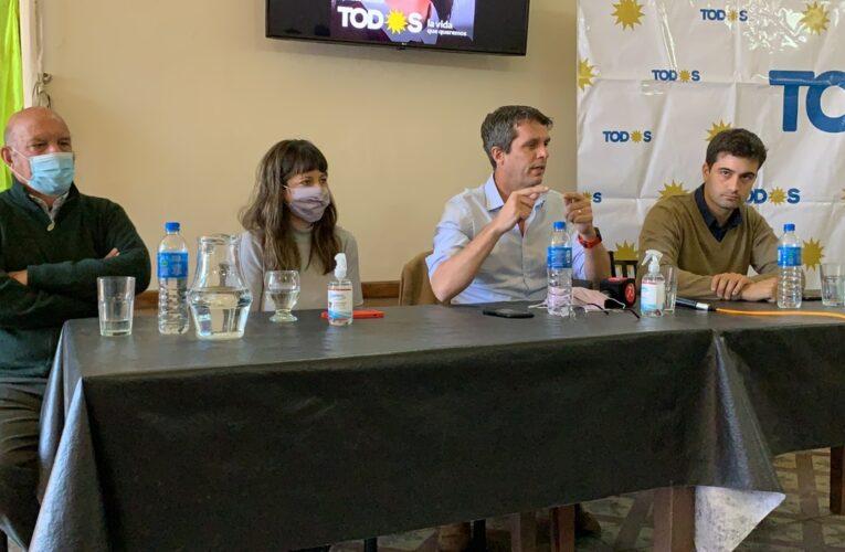 Los precandidatos a diputados Cresto, Gaillard y Ledesma, del Frente de Todos estuvieron en Basavilbaso