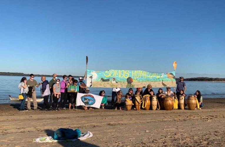 Salvemos el Río Uruguay fue otra de las organizaciones presentes en la jornada de lucha en defensa de los humedales