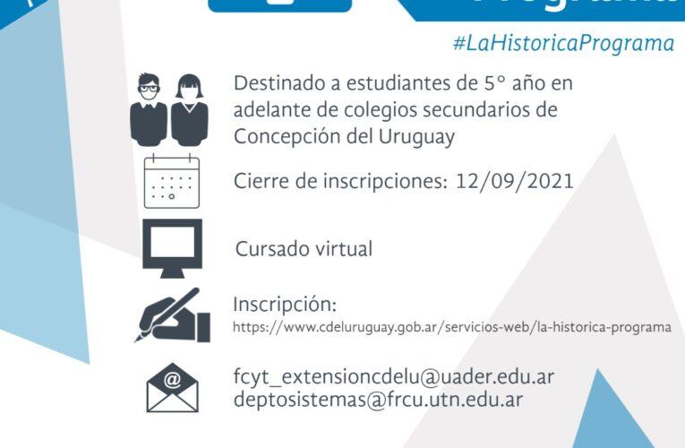 """Se lanzó la capacitación """"Concepción programa"""" destinado a estudiantes del secundario"""